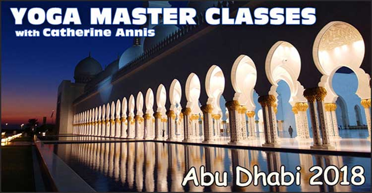 2018, January, February, Abu Dhabi, Yoga, Workshop, Masterclasses, Scaravelli, Inspired, Catherine Annis