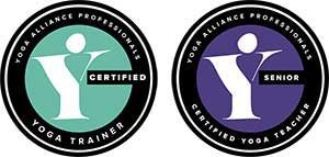 Yoga, Alliance, Professionals, Badge, Logo, Trainer, Senior, Certified, Teacher, white, Training, ttc, Scaravelli