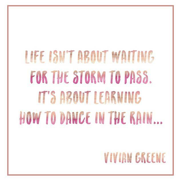 Quote, Vivian, Greene, Life, Learning, Dance, Rain