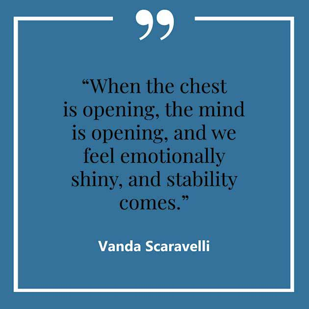Vanda, Scaravelli, Yoga, Quote, Chest, Mind, Stability