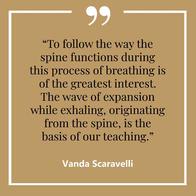 Vanda, Scaravelli, Yoga, Quote, Spine, Wave, Exhaling, Teaching