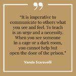 Vanda, Scaravelli, Yoga, Quote, Teach, Cage, Prison, Help