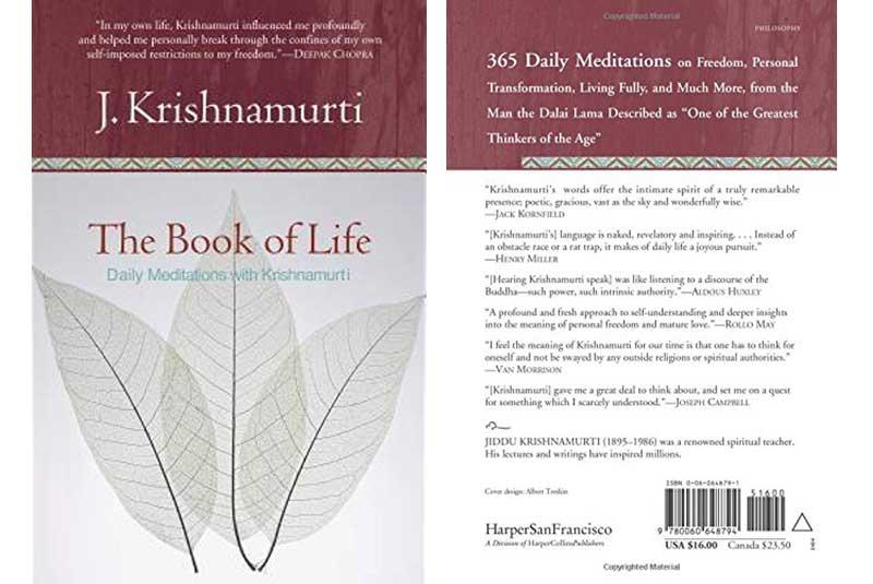 Jiddu Krishnamurti, The Book Of Life