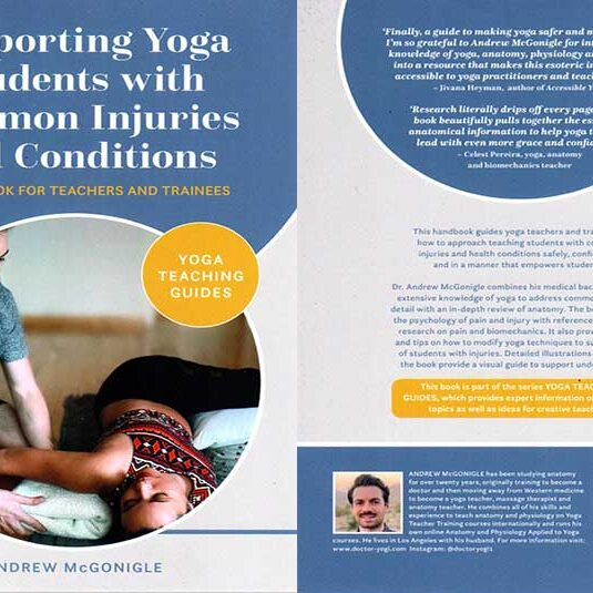 Andrew McGonigle, Book, Supporting Yoga, Students with Common Injuries and Conditions