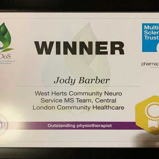 Jody Barber, Physiotherapy, Award, Yoga, Scaravelli, Training