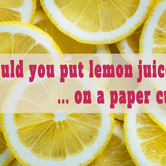 Lemon juice, paper cut, cortisol, stress, Scaravelli Yoga